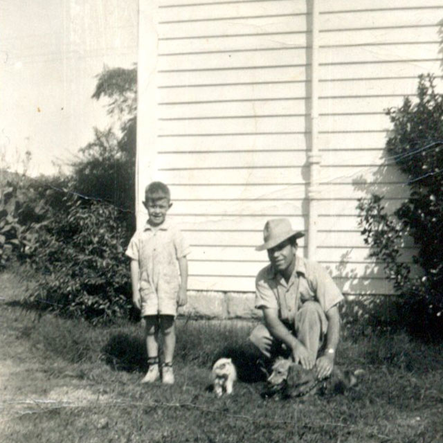 1941 - johnny and dad