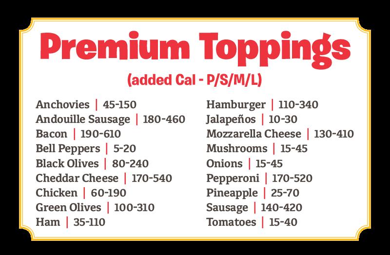Premium Toppings